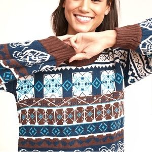 "Anthro Harlyn ""Fair Isle"" Sweater"